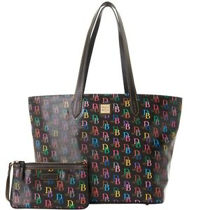 Dooney & Bourke DB75 Multi Color Tote with Large Wristlet