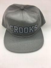 Crooks & Castles Grey Tech Rare Snapback Hat FREE SHIPPING