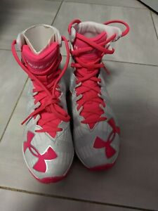 Under Armour Youth RM Highlight Lacrosse Cleats - White/Pink