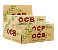 12 x Authentic OCB Organic Hemp King Size Natural Rolling Smoking Paper Rizla