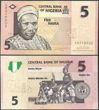 Nigeria 5 naira 2006 Pick#32 SC / UNC
