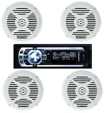 "NEW Furrion DV5000 AM FM Radio CD Player Car Stereo w/ (4) 5"" Marine Speakers"
