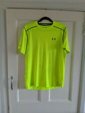 Under Armour Men's Yellow Running T-shirt Size Large