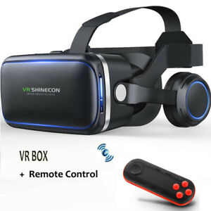 3D VR Virtual Reality Glasses Goggles Headset +Remote Control for iPhone Android