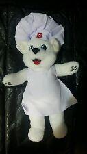 "BRAND NEW Plush BIMBO Bread WHITE BEAR Stuffed Animal Chef's Hat Apron 10"" W/TAG"