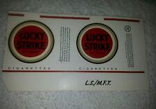 Nos vintage Lucky Strikes unfolded cigarette pack wrapper label plain (#5)