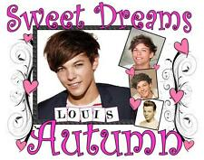 "ONE DIRECTION LOUIS TOMLINSON Personalized PILLOWCASE #2 ""Sweet Dreams"" Any NAME"