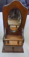 Molenaar Rustic Wood Wall Mirror with Drawer