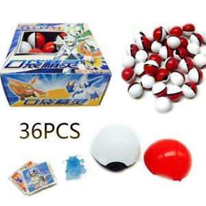 36PCS Pokemon Gehen Pokeball Ball Mini Monster Figuren Kinder Spielzeug