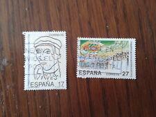 serie completa sellos usados efemérides, edifil 3224-25 año 1992