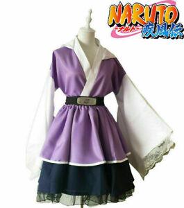N aruto Shippuden Hyuga Hinata Lolita Kimono Dress Anime Cosplay Costume