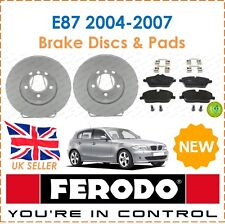 For BMW E87 2004-2007 FERODO Two Front Brake Discs + Brake Pads Set New
