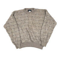 VTG 80s Textured Boxy Fit Pullover Sweater Cosby Ugly Aesthetic 90s Men's L