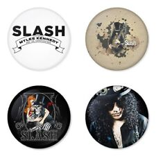 Slash, Guns, Velvet Revolver, A - 4 chapas, pin, badge, button