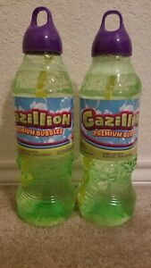 Gazillion Bubbles 1 Liter Bubble Solution 2 Liters Total NEW
