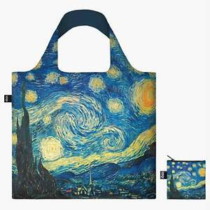 van Gogh Starry Night LOQI Bag Reusable Eco Friendly Grocery Canvas Tote