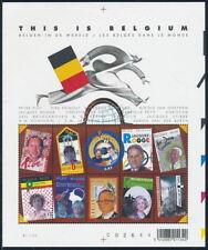 Belgium**FAMOUS BELGIANS-NOBEL PRIZE WINNERS-ASTRONAUTS-SHEET 10vals-2004