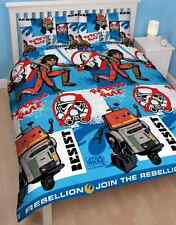 STAR WARS REBELLION REBELS RULES DOUBLE DOONA DUVET QUILT COVER, REVERSABLE NEW