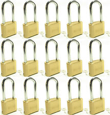 Lock Brass Master Combination #175LH (Lot of 15) Long Shackle Resettable Secure