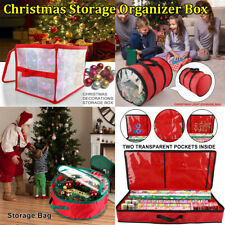 US Christmas Ornament Storage Container Home Holiday Decoration Organizer PVC