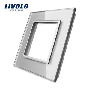 LIVOLO RESTPOSTEN Nur Glasblende Neuware 1 Fach VL-BG-SR-15 Grau+graue Rückseite
