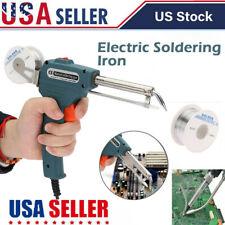 Auto Electric Soldering Iron Gun w/ FLUX 2% Solder Wire Tin Wire 50g 60W 110V