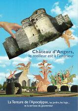 CARTE POSTALE PUBLICITAIRE ANGERS (49) CHATEAU TAPISSERIE L'APOCALYPSE