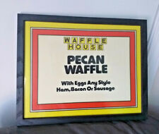 RARE Waffle House sign Framed Man Cave Pecan Waffle HAM BACON Egg Sausage B-fast