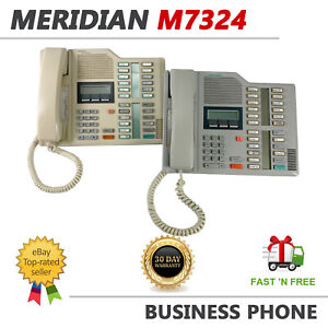 LOT OF 2 Nortel Meridian M7324 White Business Display Telephone