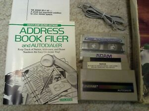 Coleco ADAM ADDRESS BOOK FILER Complete