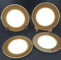 Fitz & Floyd RENAISSANCE-COGNAC (BROWN) Saucer Plates set of 4