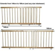 Wooden door barrier child / pet safety barrier extends 140cm - 180 cm