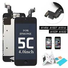 for Apple iPhone 5c Screen Replacement LCD Touch Digitizer Camera Button Black