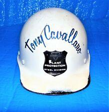 Vintage Armco Steel Division Plant Protection MSA Fiberglass Hard Hat White