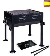 Barbacoa de Carbón Portátil con Parrilla + pinza + bandeja grill Playa Camping