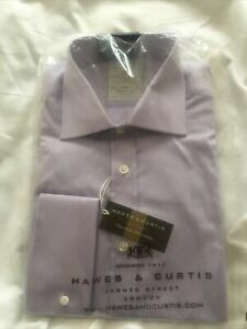 Hawes & Curtis Double Cuff Shirt Mens 15.5/35 BNWT