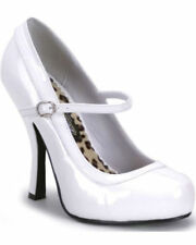 Stiletto Patent Leather Mary Janes Solid Pattern Heels for Women