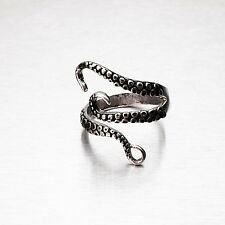 Stainless Steel Octopus Tentacle Ring Size Adjustable Size q p r s t u v w z