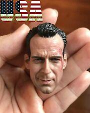 1/6 Bruce Willis Head Sculpt John McClane Die Hard Bashing For Hot Toys ❶USA❶