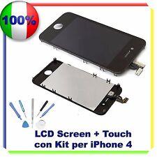 TOUCH SCREEN + LCD RETINA + FRAME + KIT IPHONE 4G NERO VETRO DISPLAY SCHERMO