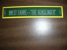 BRETT FAVRE NAMEPLATE FOR AUTOGRAPHED JERSEY/PHOTO/FOOTBALL/HELMET