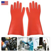 Adult Safety Rubber 12KV High-voltage Insulated Mittens Electrical Work Gloves