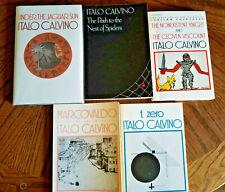 LOT: 5 CALVINO books: Jaguar Sun (HCDJ 1st/1st) Marcovaldo, t zero, Nest, Knight