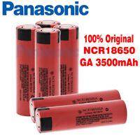 Panasonic NCR18650GA 3500mAh 3.7v Li-Ion Rechargeable Battery Flat Top NEW lot