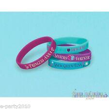 FROZEN RUBBER BRACELETS (4) ~ Disney Princess Birthday Party Supplies Favors
