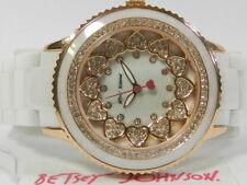 Betsey Johnson Women's White Ceramic Bracelet Watch 40mm BJ00622-03