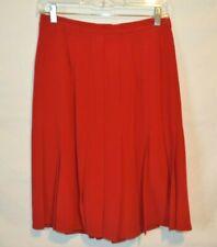 Peter Nygard Size 8 Skirt  100% Silk pleated Red Skirt