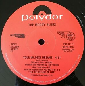 "MOODY BLUES VINYL 12"" single LOT Wildest Dreams BLUE WORLD Sitting At The Wheel"