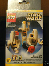 Star Wars LEGO Figure Set 3343 MISB(Battle Droids, 1x Cmd. Officer, 2x Infantry)