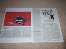 Denon DP-52F Turntable Review, 1982, 2 pgs, Full Test